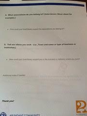 Community Asset Survey page 2