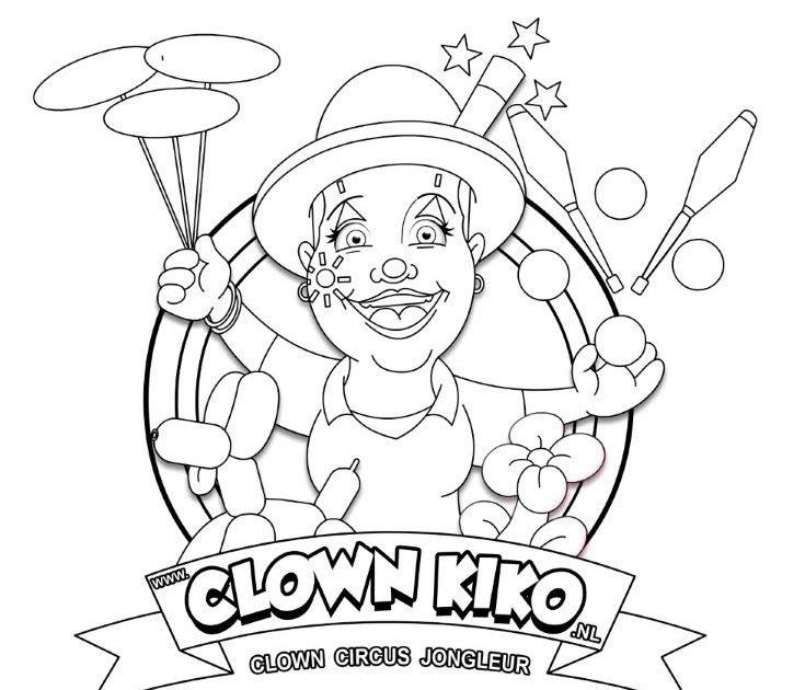 kleurplaten clown kleurplaat