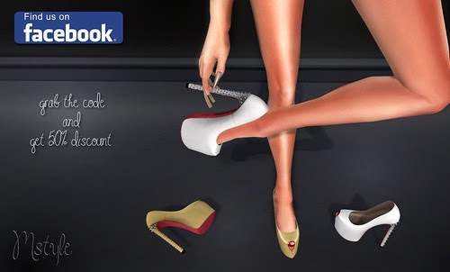 LOU Pumps - Spiked Heels - Gold & Platinum by Mikee Mokeev