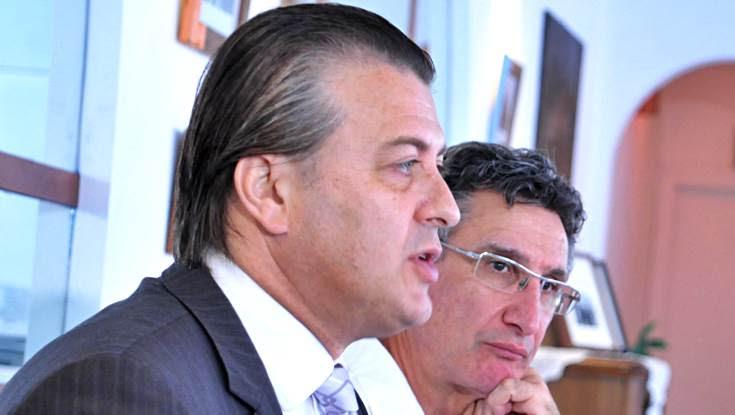 Ο πρόεδρος του HACCI Νίκος Μυλωνάς με τον καθηγητή Νίκο Παπαστεργιάδη