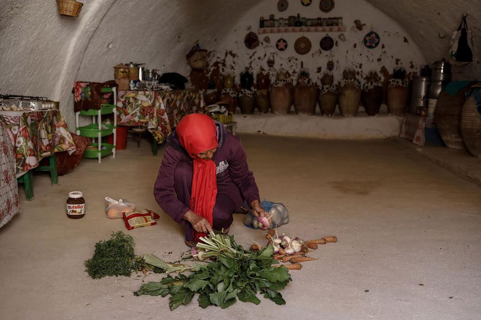 Подземные дома в Тунисе