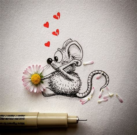 creative drawing  everyday object  funny art