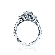 Crescent Princess cut center diamond   DK Gems
