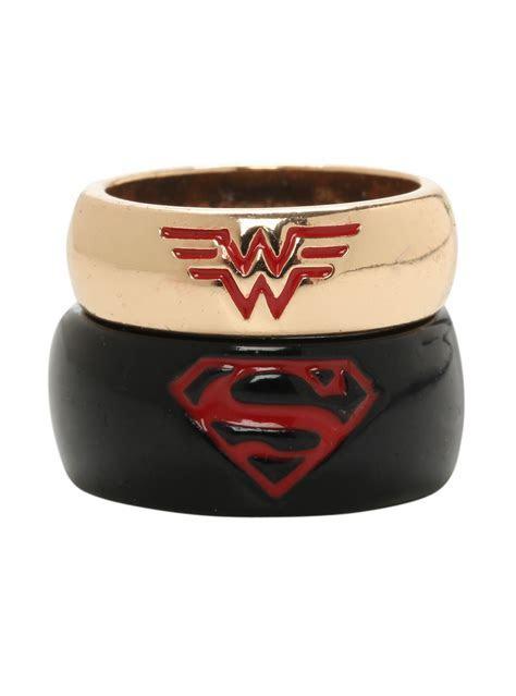 DC Comics Superman & Wonder Woman His & Hers Medium Ring