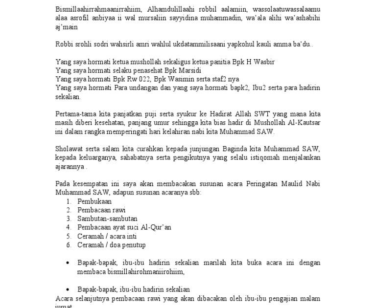 Contoh Teks Pembawa Acara Pengajian Bahasa Jawa Dapatkan Contoh
