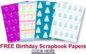free birthday scrapbook paper designs