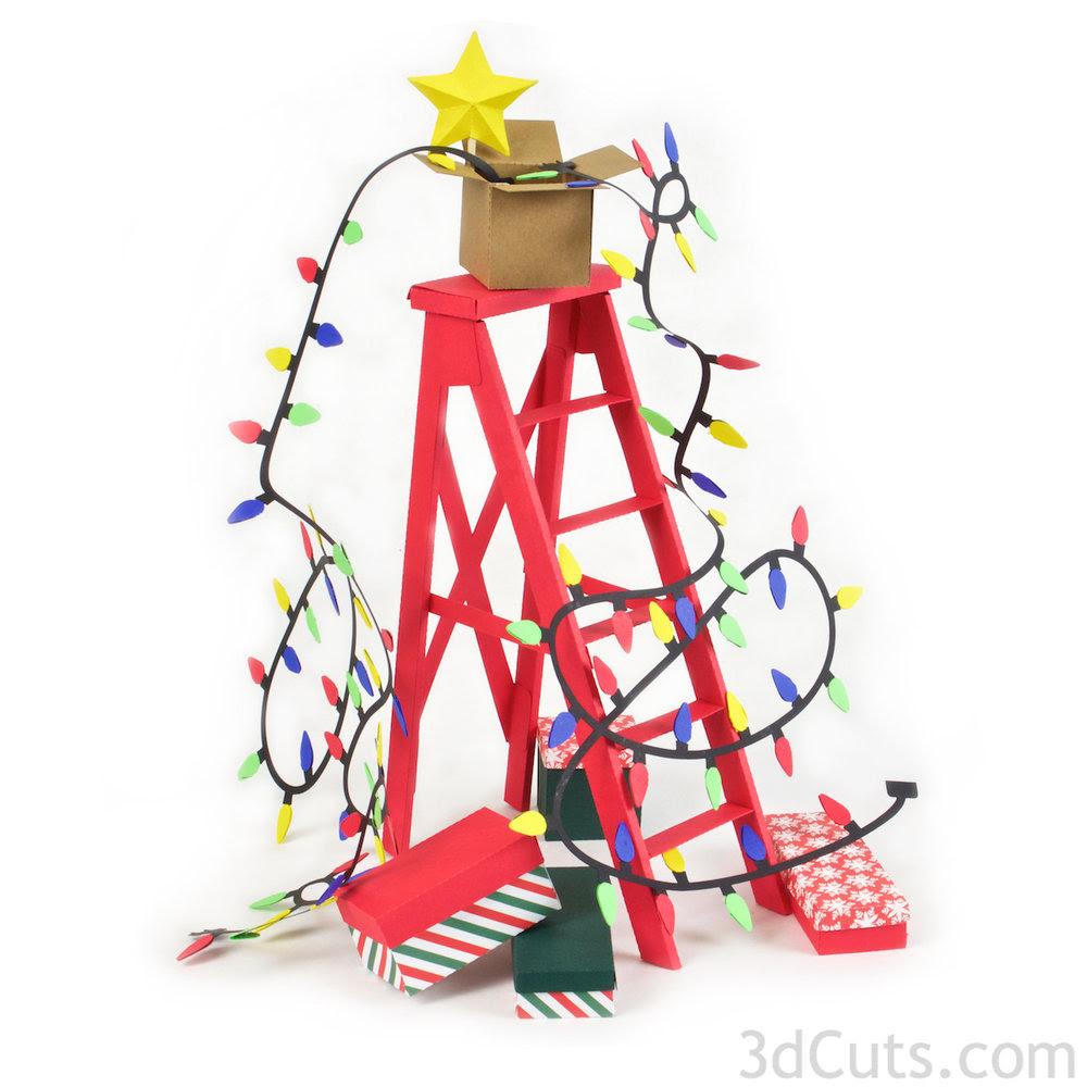 3D Christmas Ladder — 3DCuts.com