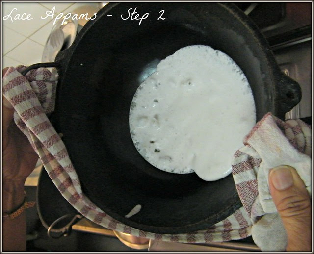 Step 2 Lace Appam