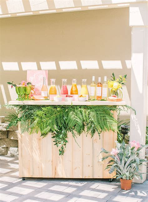 Pink & Yellow Tropical Bridal Shower Brunch   Inspired By This