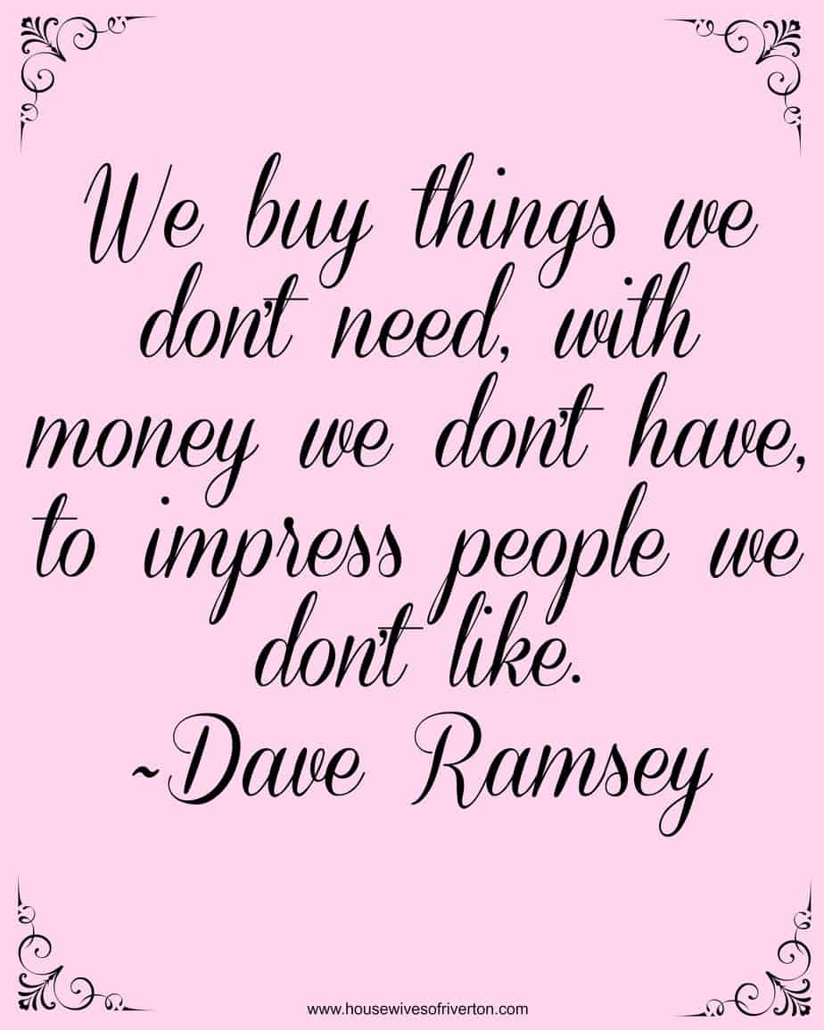 Dave Ramsey Financial Peace University Housewives Of Riverton