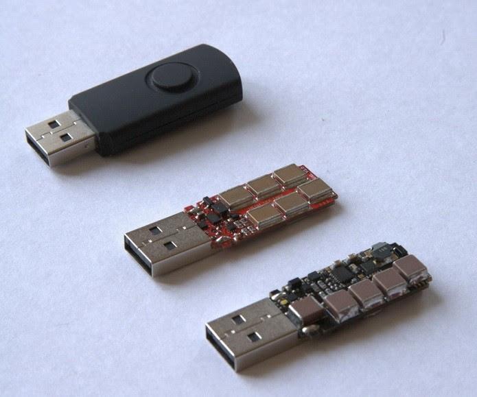 USB Killer é modificado para acumular energia (Foto: Divulgação/Habrahabr)
