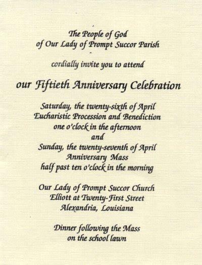 Church Anniversary Invitation Wording Samples