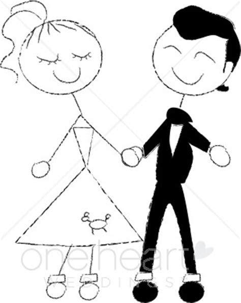 1950s Couple Clipart   Cartoon Wedding Clipart