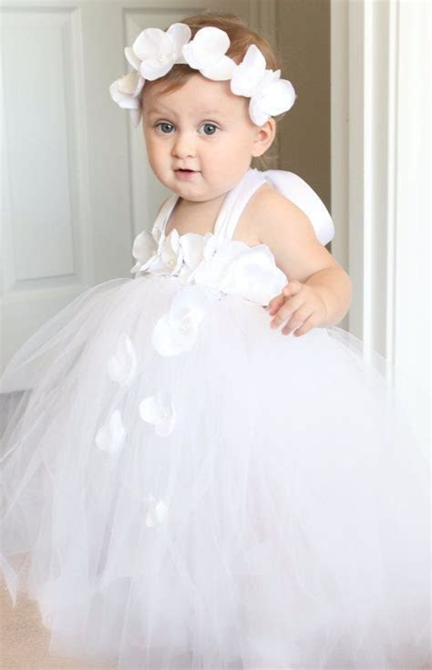 Beautiful white tutu dress for 6 18 month old baby girl