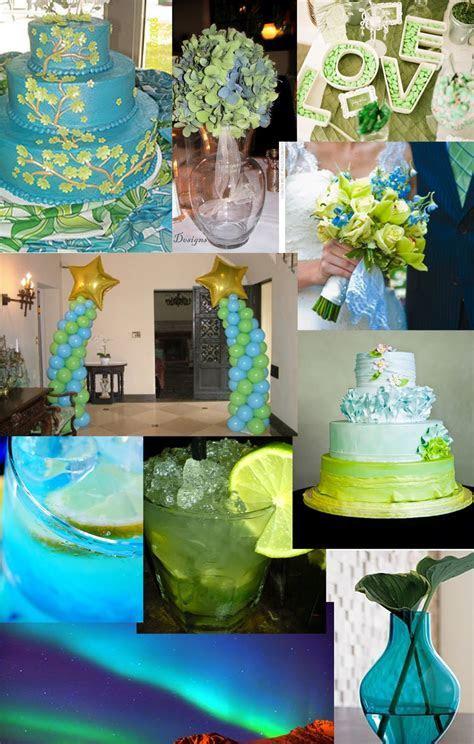 Weddingzilla: Blue Green Turquoise Wedding Inspiration Board