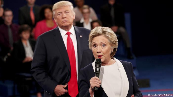 US TV Debatte Trump vs Clinton (Reuters/R. Wilking)