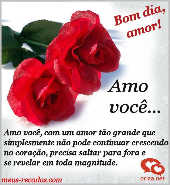 Bom Dia Meu Amor Te Amo Oriza Net Portal Poemas E