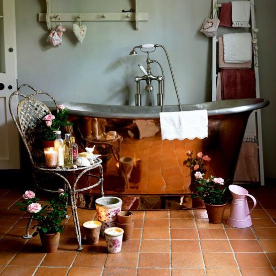Rustic-style bathroom flooring   Bathroom flooring ideas ...