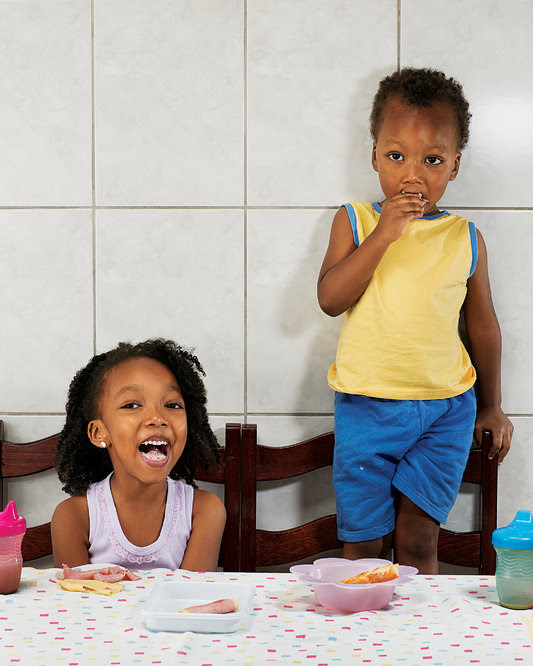<p>Aricia Domenica Ferreira, 4 years old, and</p> <p>Hakim Jorge Ferreira Gomes, 2 years old, São Paulo, Brazil</p>