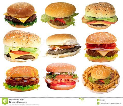 Tasty Burgers, Fast Food Royalty Free Stock Images   Image