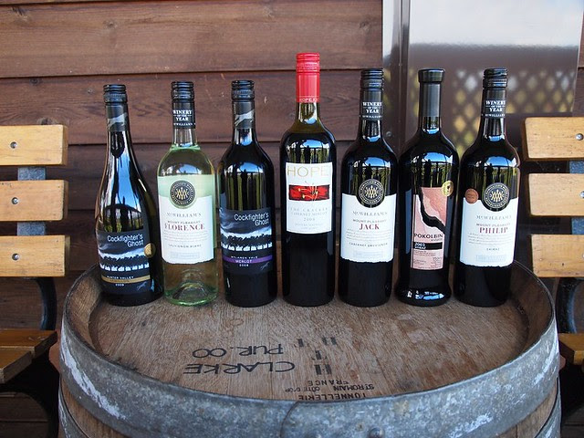Fine wines at Hunter Valley (Australia 2010)