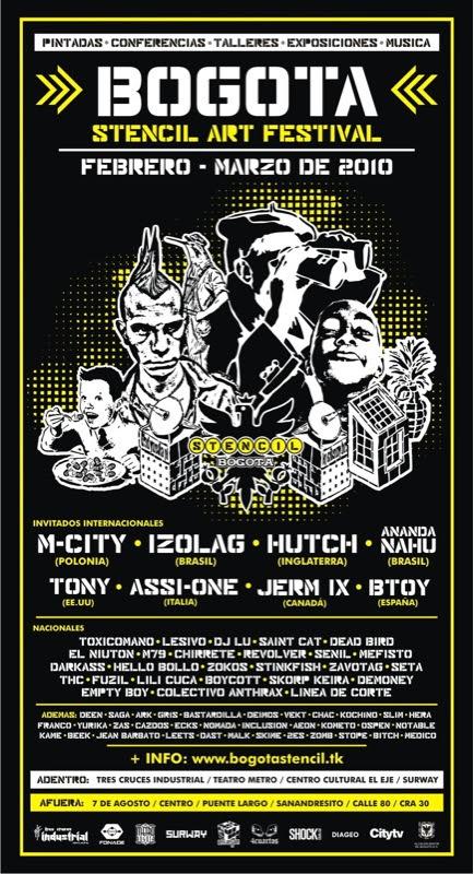 Bogota Stencil Art Festival 2010 flyer