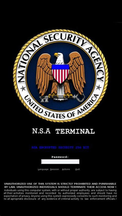nsa login terminal iphone  wallpaper  mobile