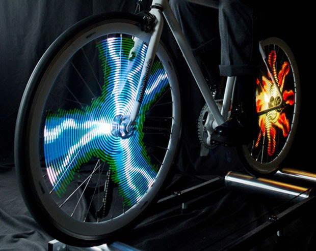 LEDs trazem animações para as rodas as bicicletas (Foto: Divulgação/MonkeyLectric)