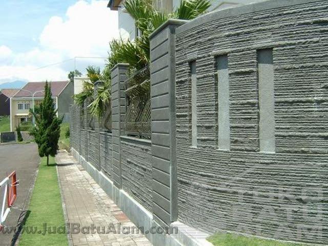 Ragam Batu alam untuk pagar