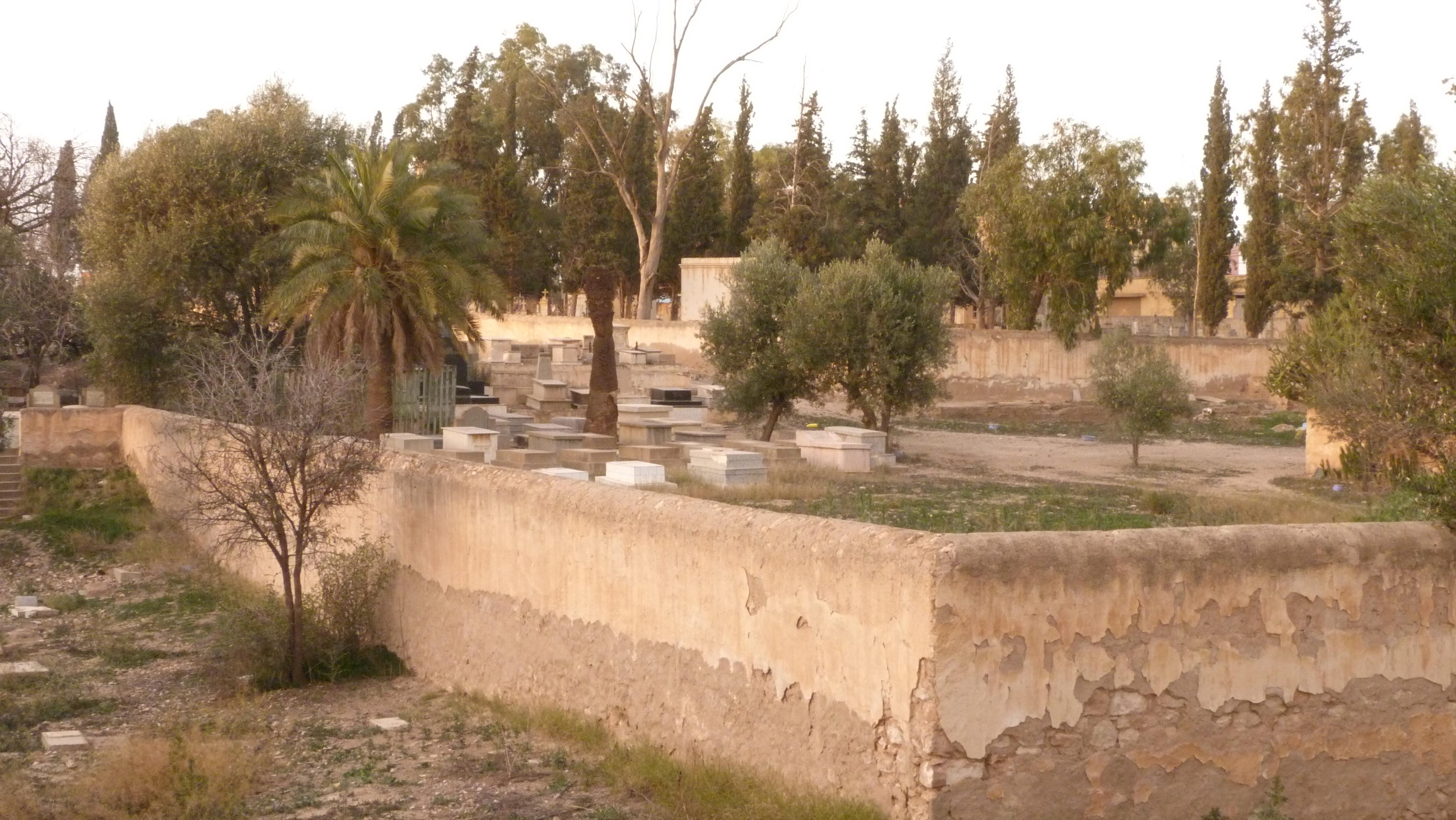 the Jewish Cemetery in Oujda, Morocco                        courtesy Wikimedia