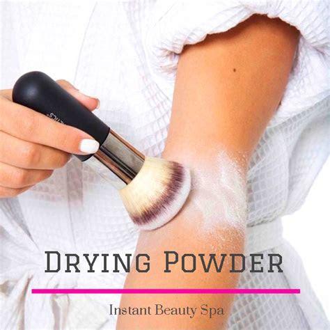 Spray Tan Tips   Instant Beauty Spa   Blog   Drying Powder