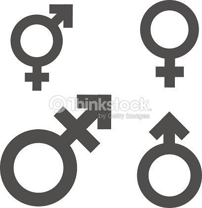 Símbolo Icono Desigualdad E Igualdad De Género Hombre Mujer Niña
