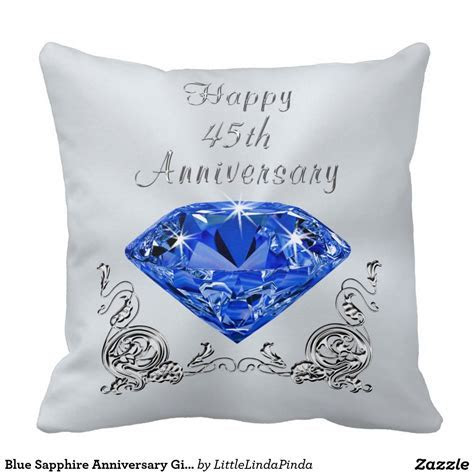 Blue Sapphire Anniversary Gifts, 45th Anniversary Throw