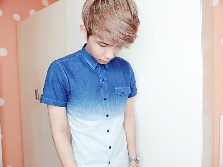 gradient button shirt front