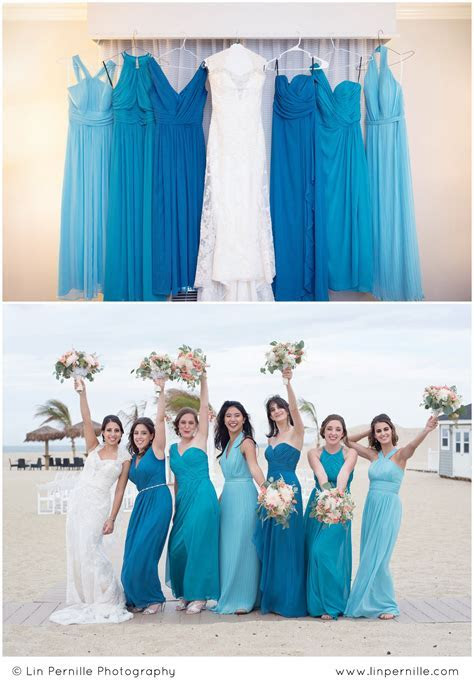 I LOVE mismatched bridesmaid dresses! These monochromatic