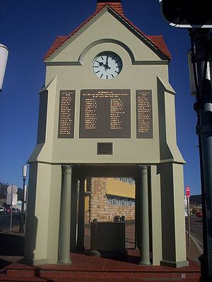 English: War memorial at Mittagong, Australia.