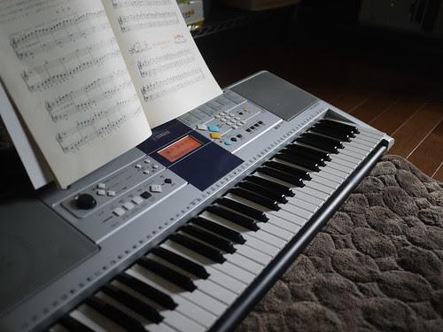 ピアノ練習中~