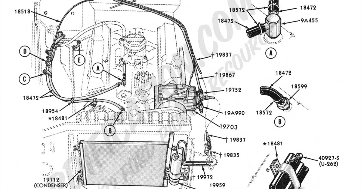 2003 Ford Ranger Heater Hose Diagram