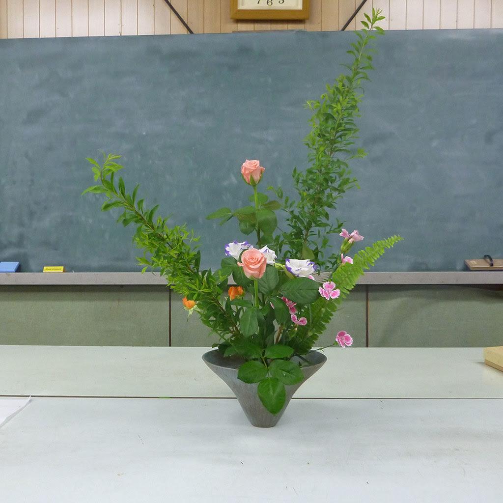 【盛花】ユキヤナギ、バラ、トルコキキョウ【2013_06_15】