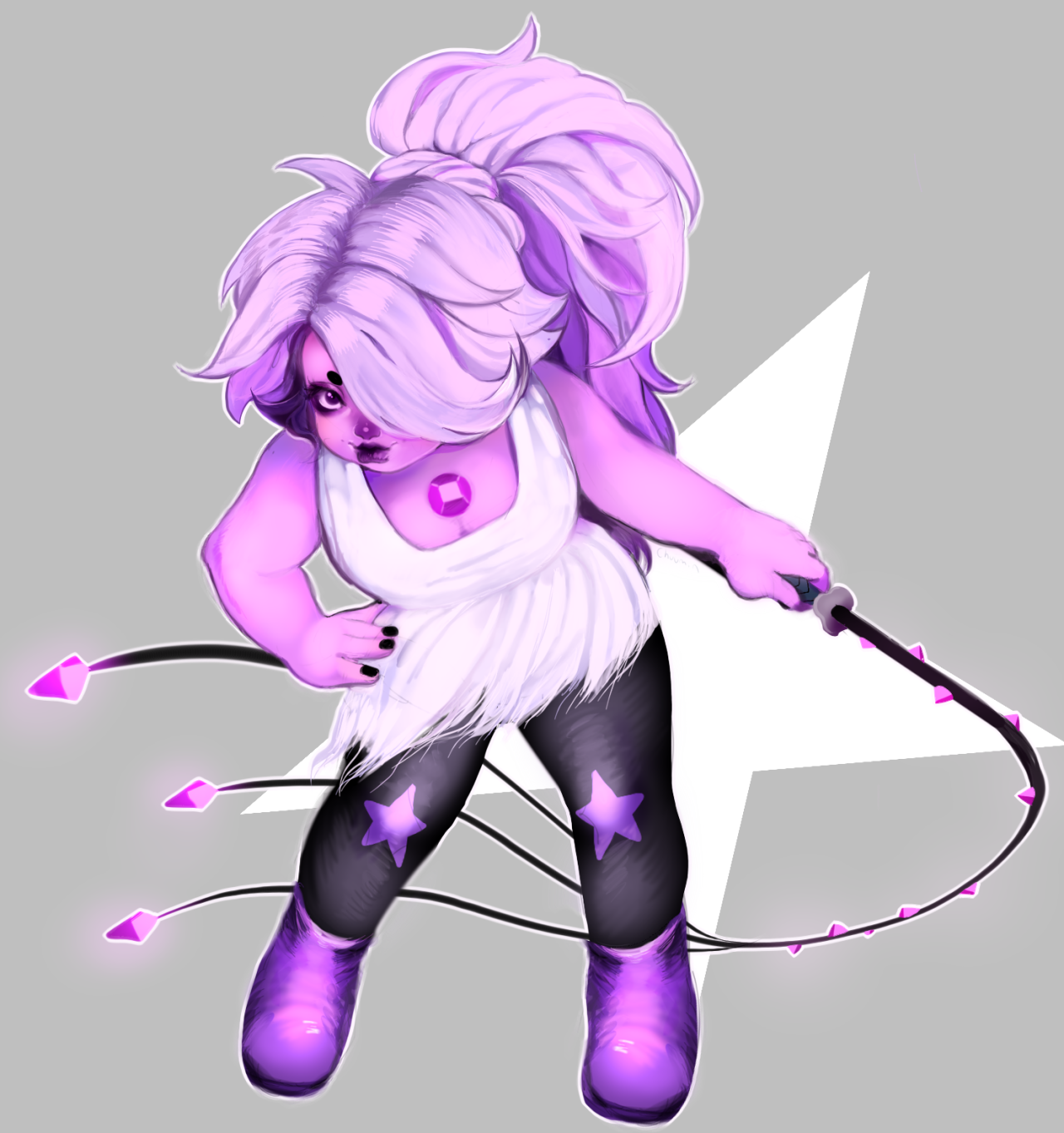 today's amethyst was super cute! transparent vers.