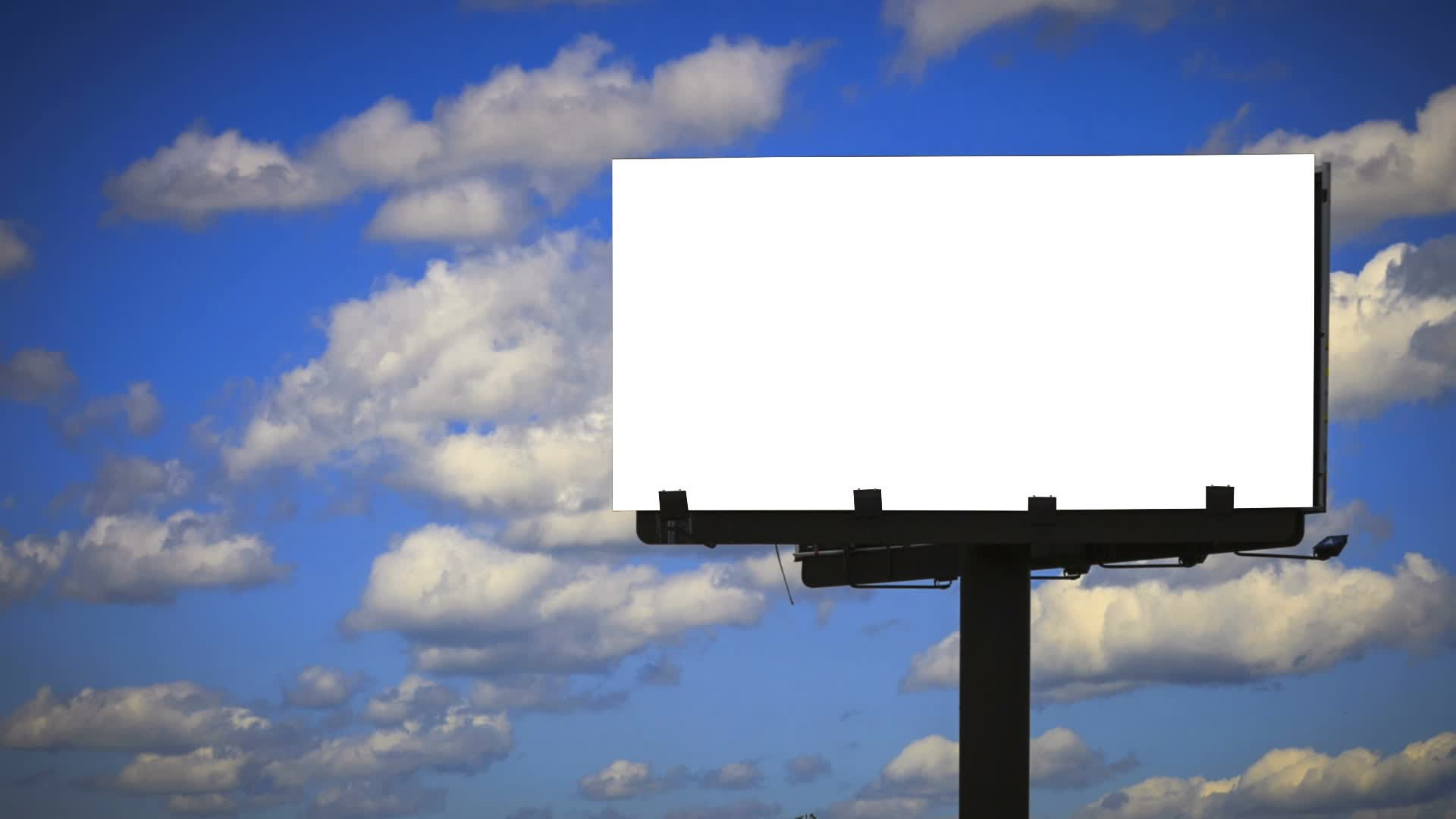 Blank Billboard with Cloud Time lapse ~ Video Clip #23167872