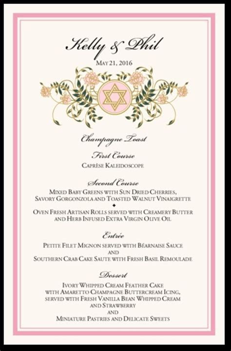 34 Best images about Wedding Menu Cards on Pinterest