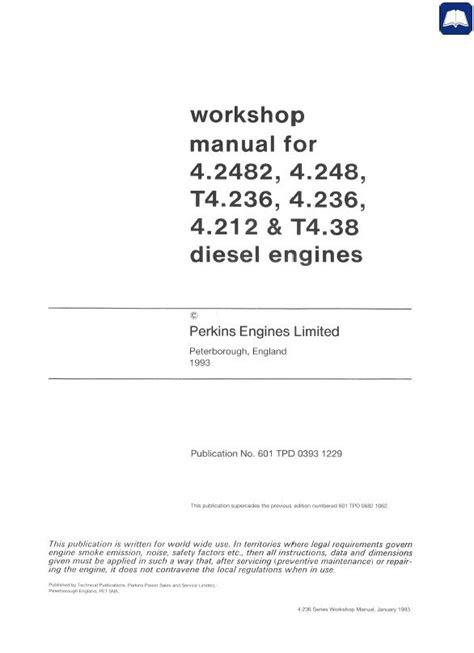 Perkins 4.2482, 4.248, T4.236, 4.236, 4.212, T4.38 Engines PDF