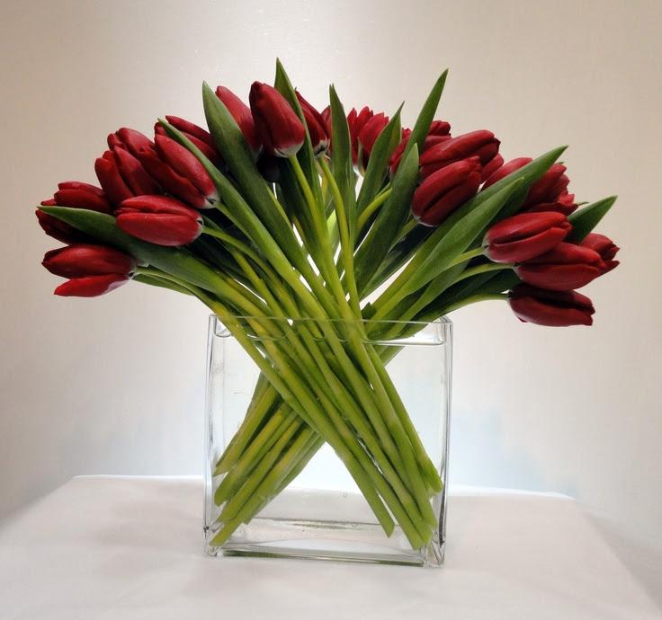 tulip flower arrangement  Tablescapes  Pinterest
