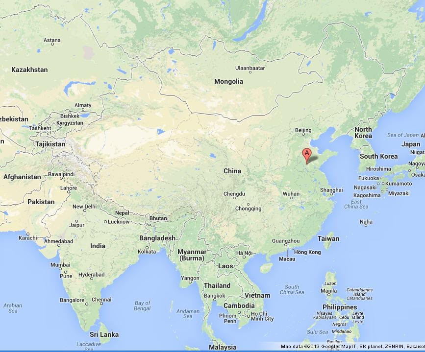 Qufu On Map Of China