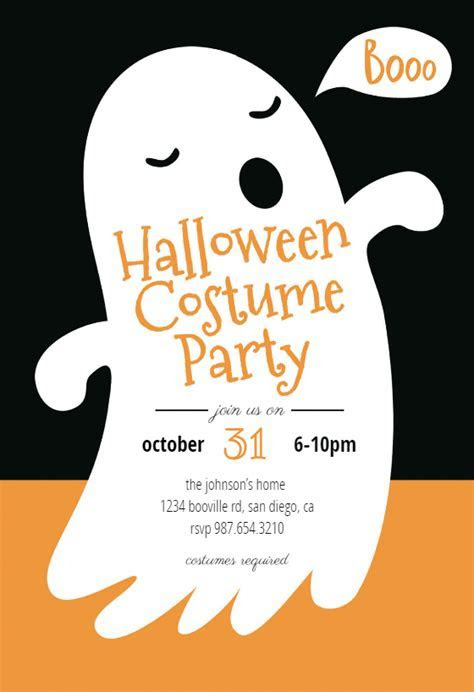 Boos   Halloween Party Invitation Template (Free