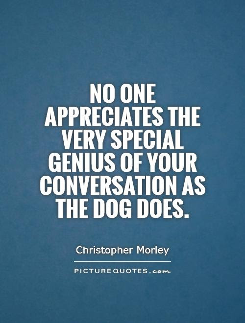 No One Appreciates The Very Special Genius Of Your Conversation