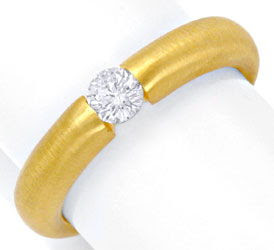 Originalfoto DIAMANT-SPANNRING 0,29ct BRILLANT, 18K GELBGOLD, LUXUS!