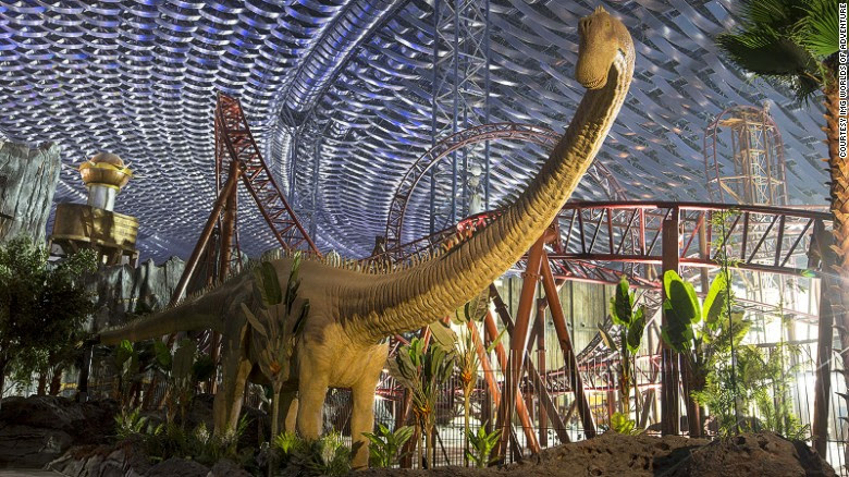 IMG Worlds of Adventure, the world's largest indoor theme park, opened in Dubai on August 31. The Predator roller coaster (pictured) is one of 22 rides and attractions.
