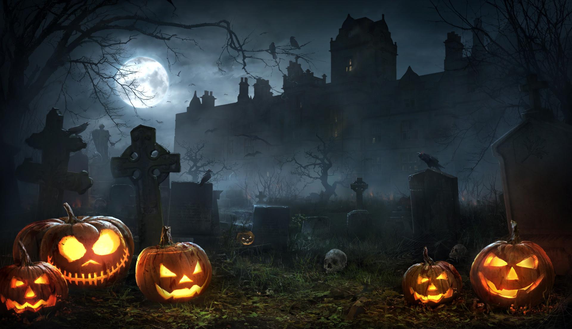 3004032 1920x1106 Cemetery Graveyard Halloween Holiday Jack O